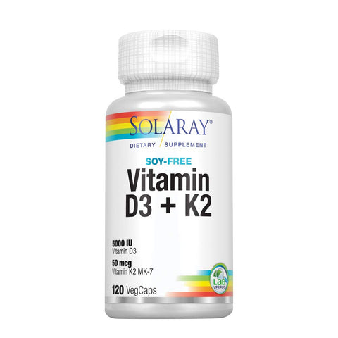 Solaray Vitamin D3 + K2 To Enhance Your Immune System - Ultimate Sup