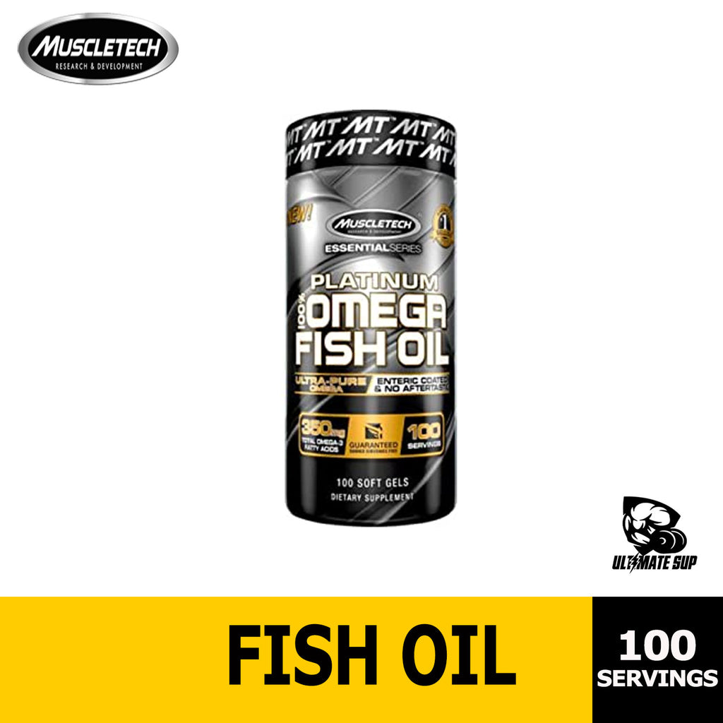 Muscletech, Essential Series, Platinum 100% Omega Fish Oil, 100 Soft Gels, Ultimate Sup