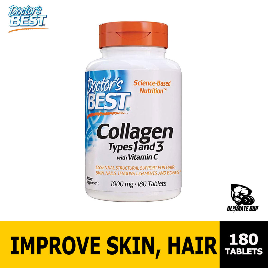 Doctor's Best, Collagen Types 1 and 3 with Vitamin C, 1,000 mg Ultimate Sup