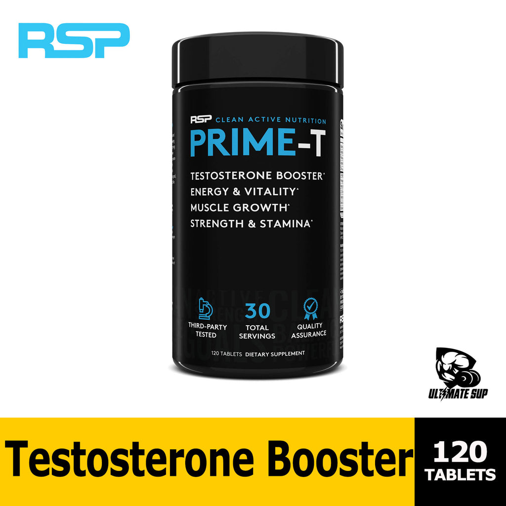 RSP Nutrition Prime T | Increase Free Testosterone | Lean Muscle Growth, Strength, Stamina & Healthy Sleep | 120 tablets | Ultimate Sup