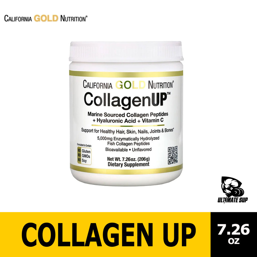 California Gold Nutrition, Collagen UP, Marine Collagen + Hyaluronic Acid + Vitamin C, Ultimate Sup