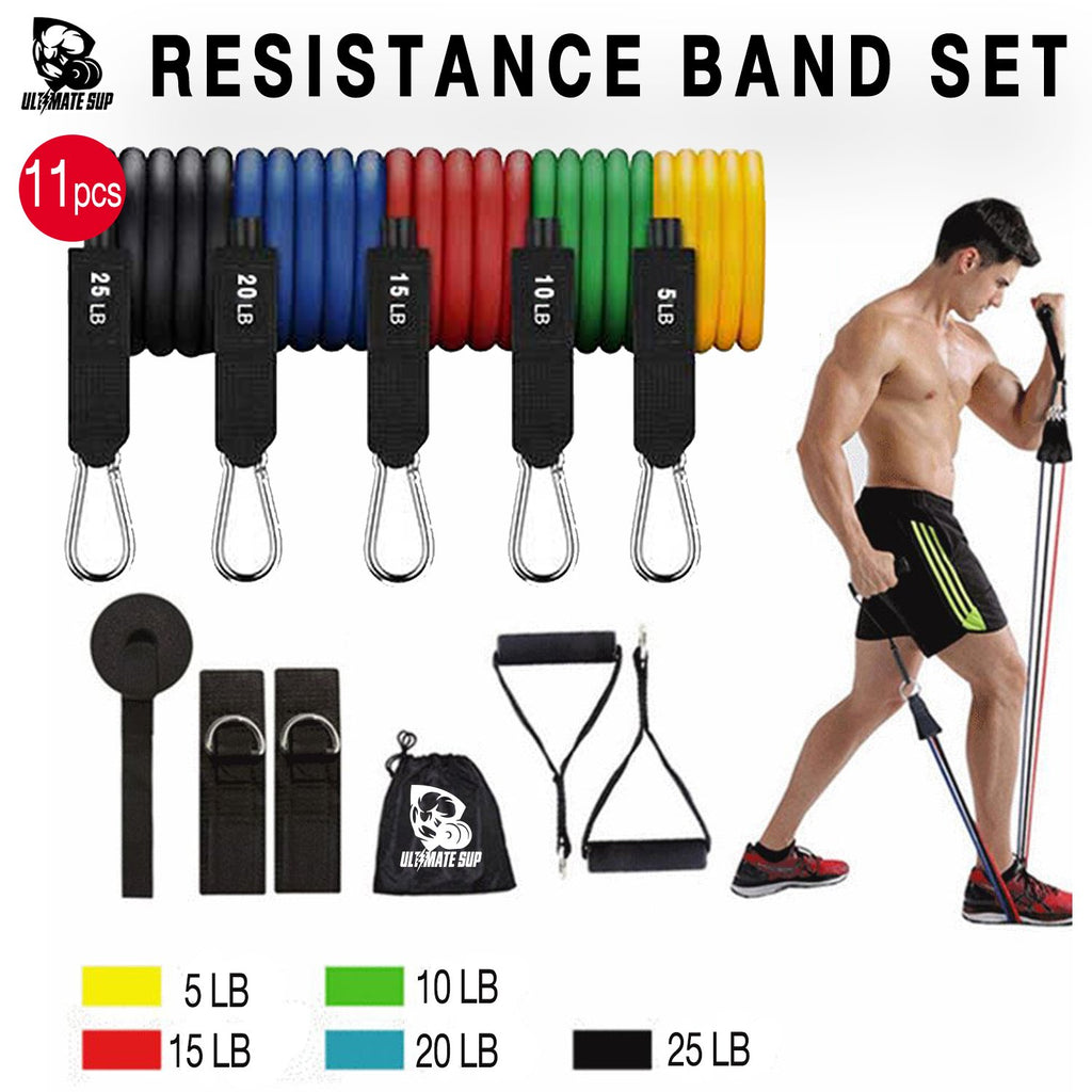 11pcs Resistant Bands Set