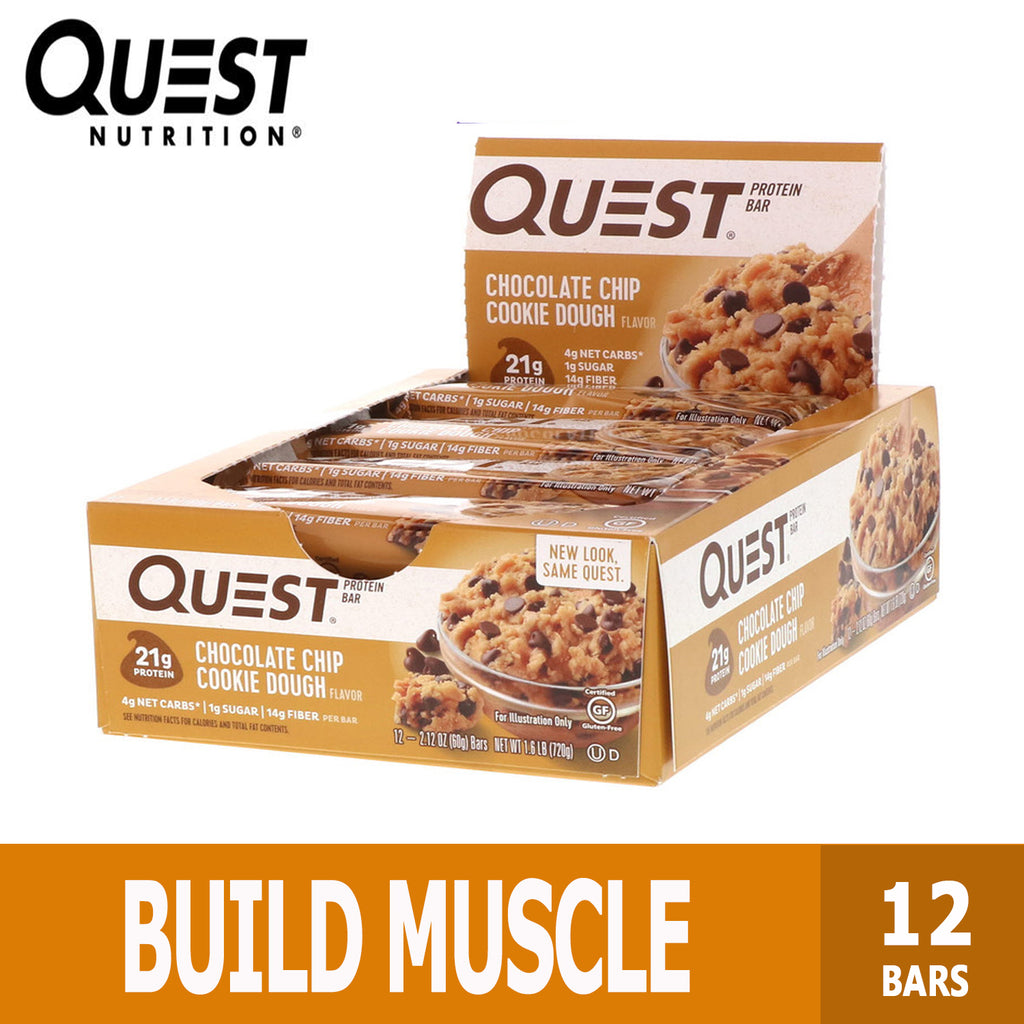 Quest Nutrition, Protein Bar, Various Flavors, 12 Bars, 60g Each, Ultimate Sup