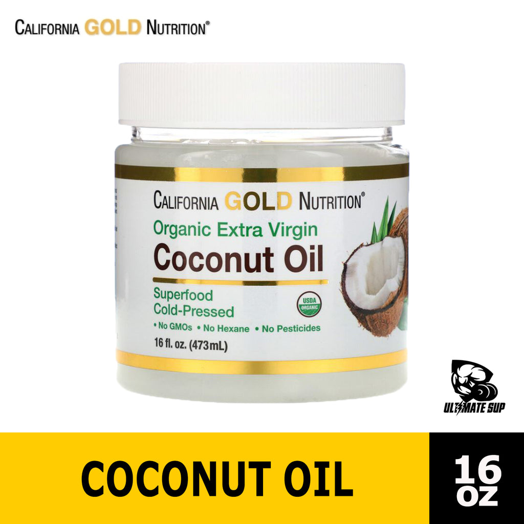 California Gold Nutrition, Cold-Pressed Organic Virgin Coconut Oil Before