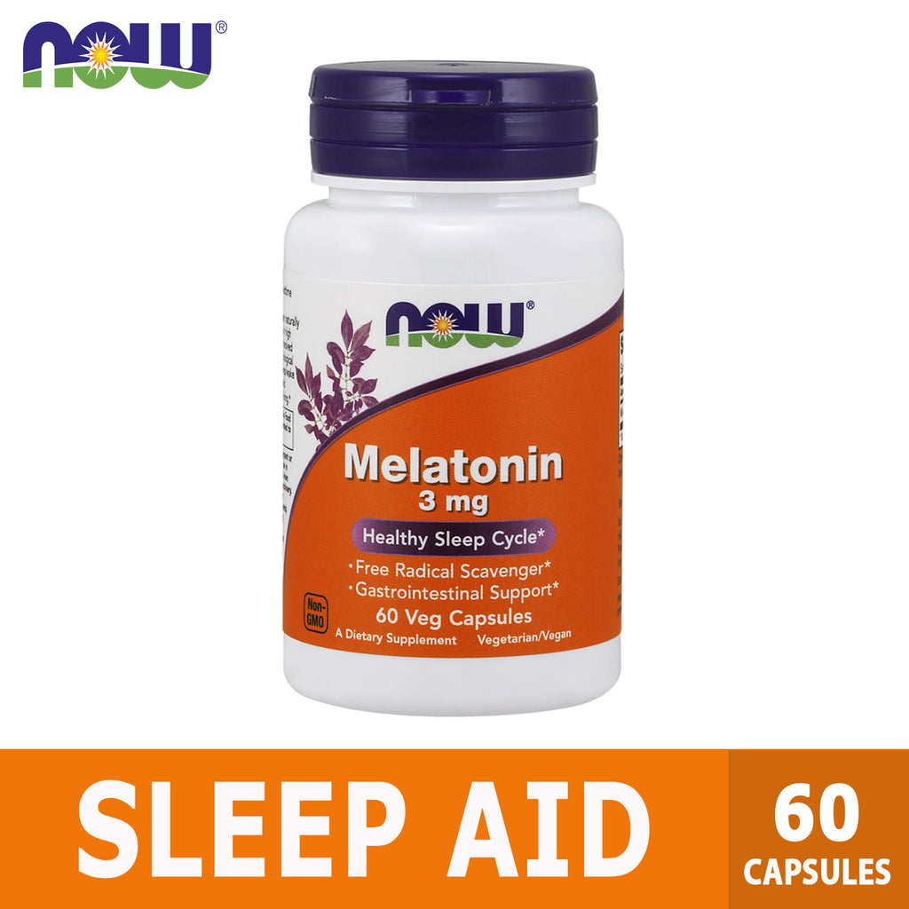 Now Foods, Melatonin, 3 mg, 60 Capsules, Ultimate Sup