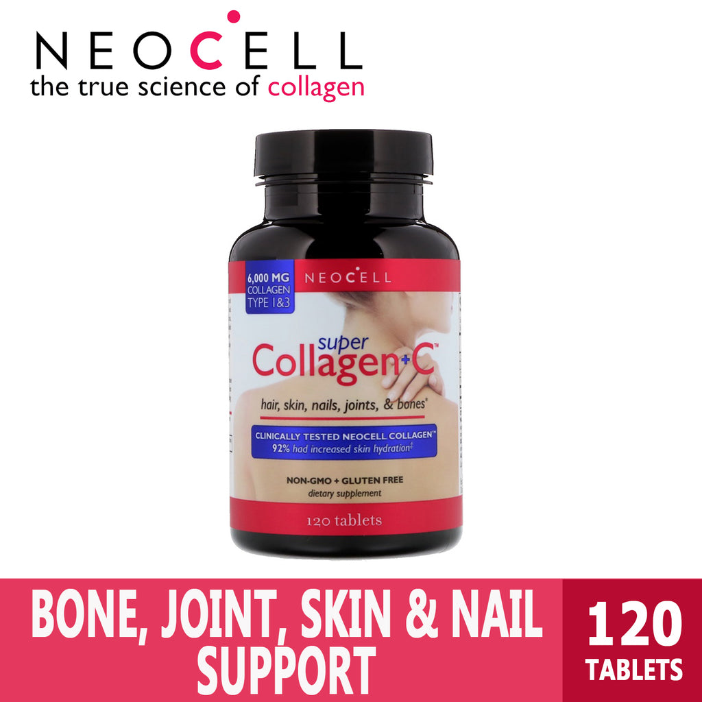 Neocell, Super Collagen + C, Type 1 & 3, 6000 mg, Ultimate Sup