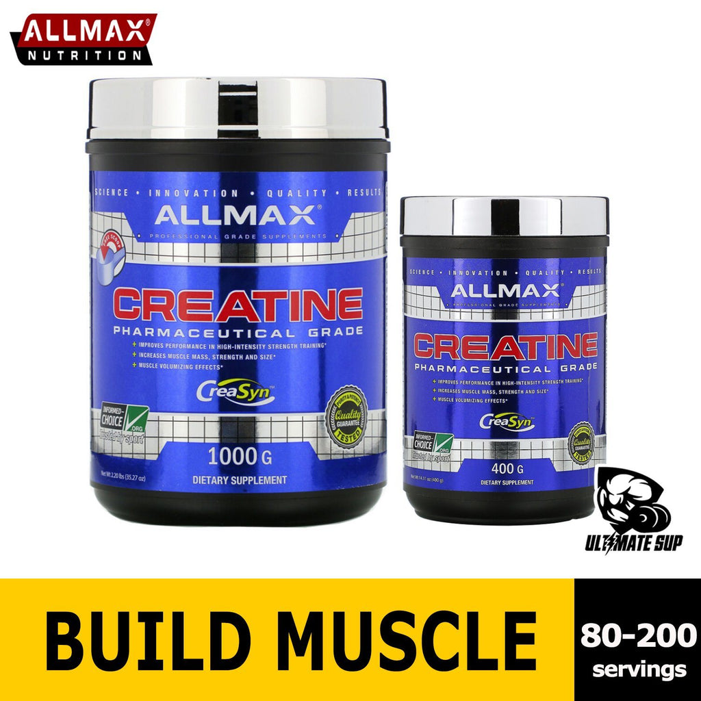 ALLMAX Nutrition, Creatine Powder, 100% Pure Micronized Creatine Monohydrate, Pharmaceutical Grade Creatine, 400g-1000g (80-200 servings)