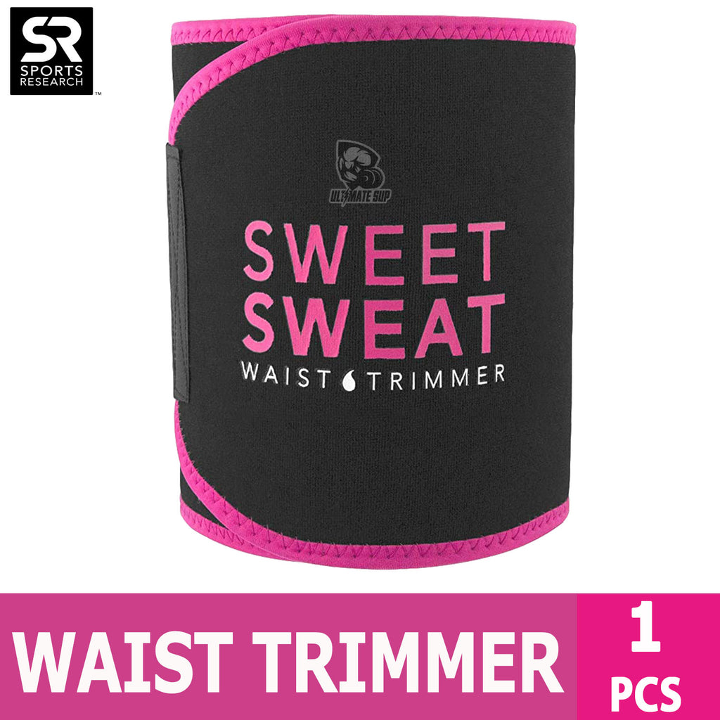 Sports Research, Sweet Sweat Waist Trimmer, Medium Size | Free Sample of Sweet Sweat Gel & Carry Bag - Ultimate Sup