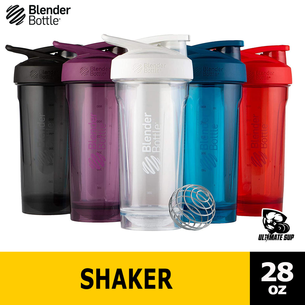 Blender Bottle STRADA Tritan Rounded Base with Lock Lid Anti Odor Protein Shaker, 28 oz - Ultimate Sup