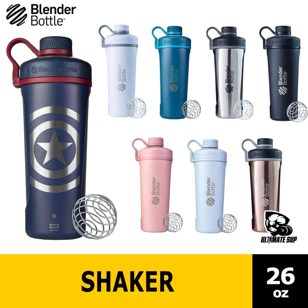 Blender Bottle, Protein Shaker, Radian, Insulated Stainless Steel, 26 oz - Ultimate Sup