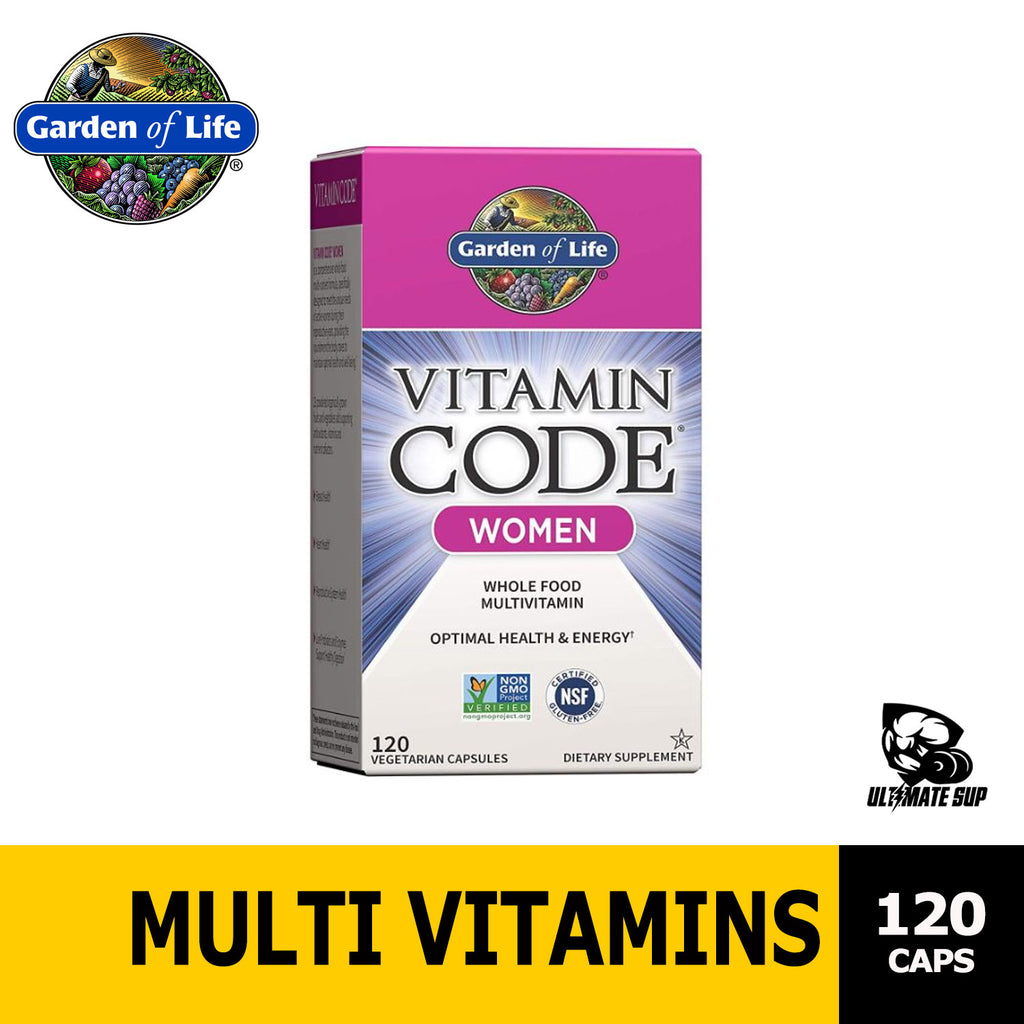 Garden of Life Multivitamin for Women - Vitamin Code Women's Raw Whole Food Vitamin Supplement with Probiotics, Vegetarian, 120 caps, Ultimate Sup