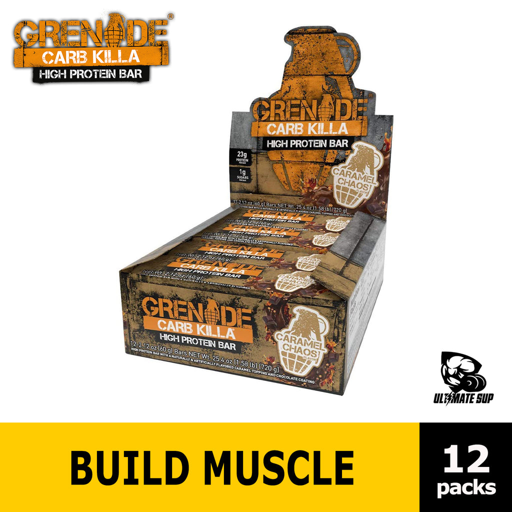 Grenade Carb Killa High Protein and Low Sugar Candy Bar helps Build Muscle, Snack - Ultimate Sup