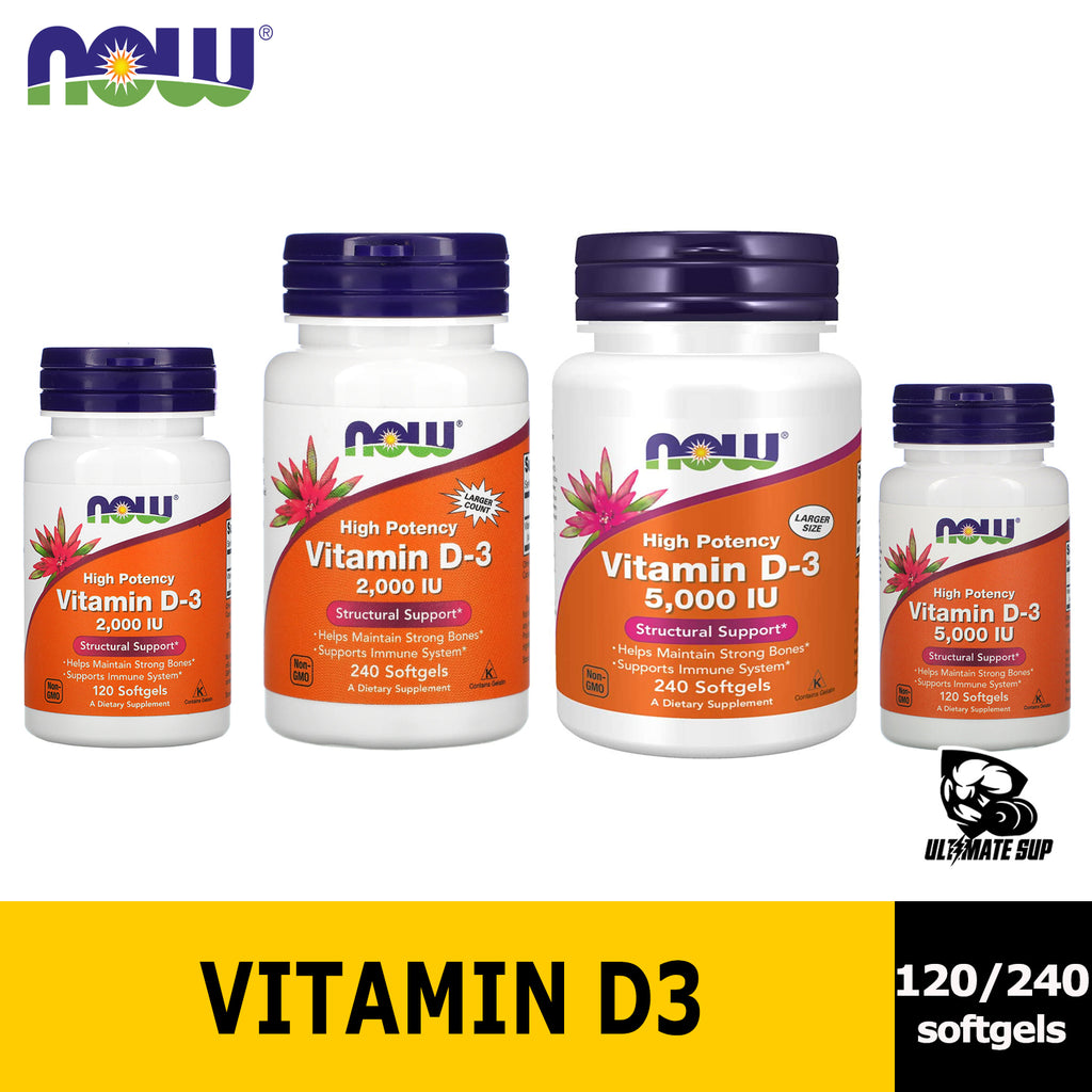 Now Foods, High Potency Vitamin D-3 - Ultimate Sup