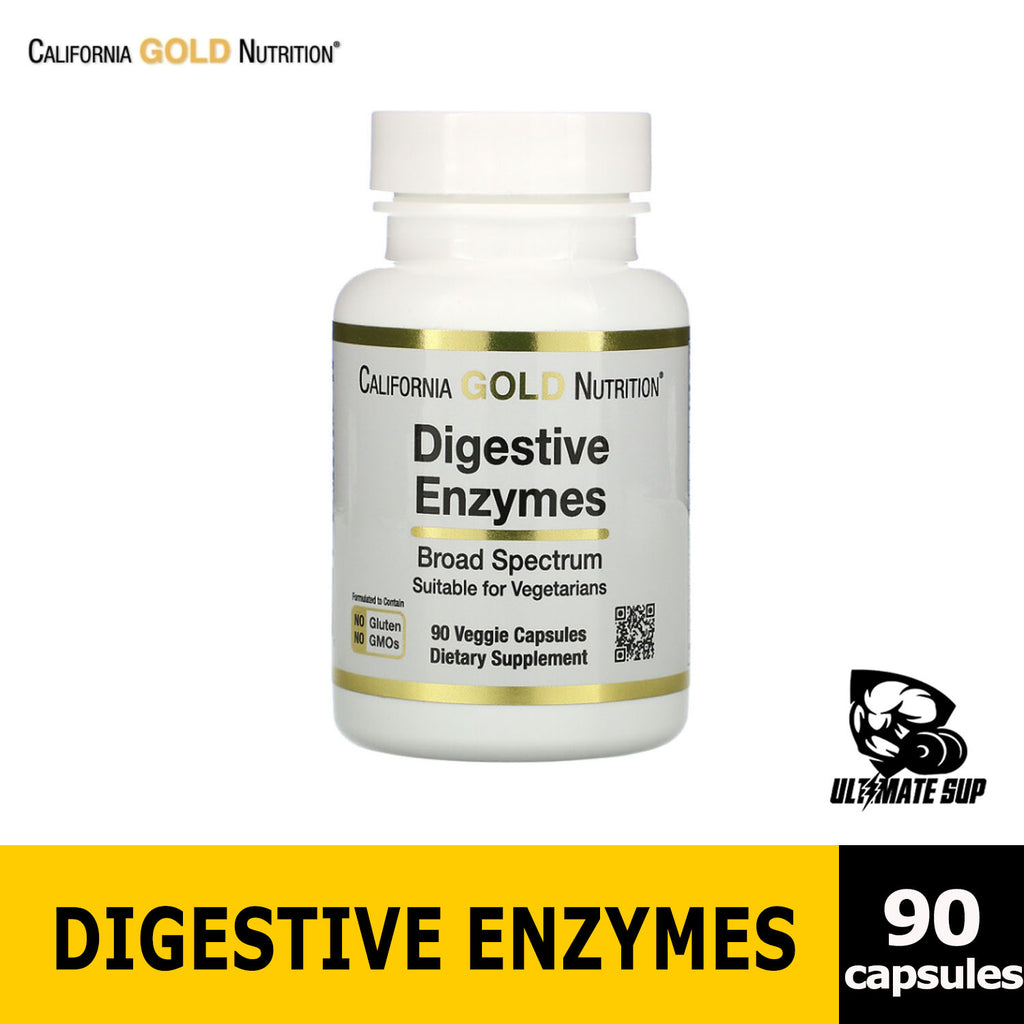 California Gold Nutrition, Digestive Enzymes, Broad Spectrum, 90 Veggie Capsules, Before