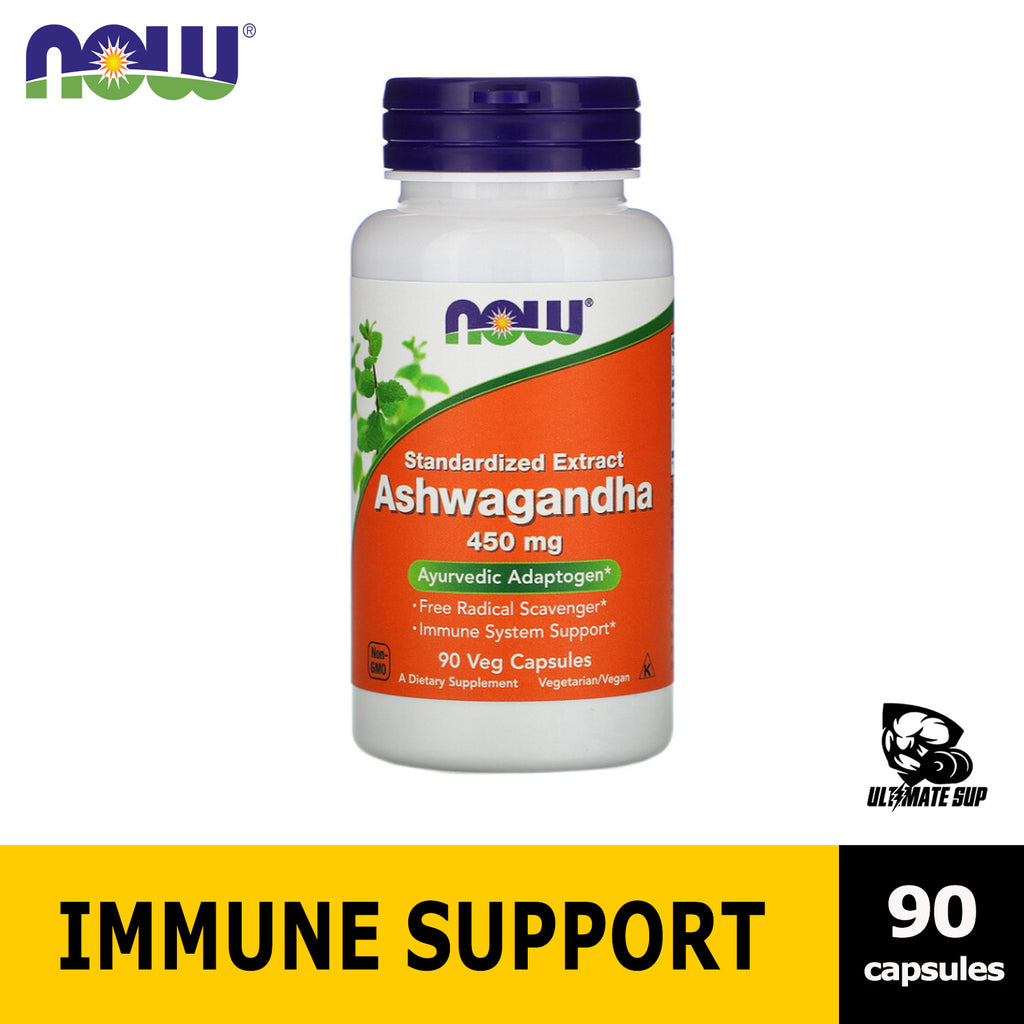 Now Foods, Ashwagandha, Standardized Extract helps Immune & Stress, 450 mg - Ultimate Sup