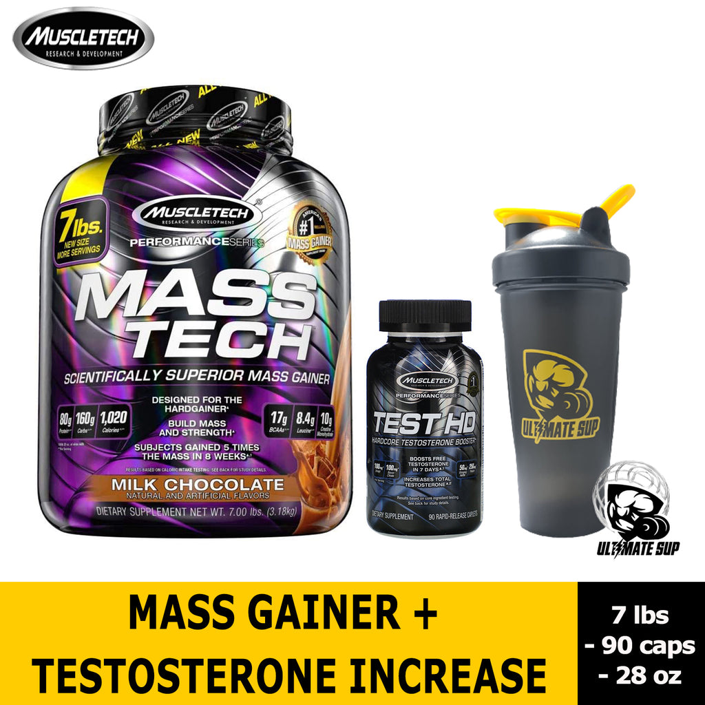 MuscleTech MassTech + Test HD + Shaker
