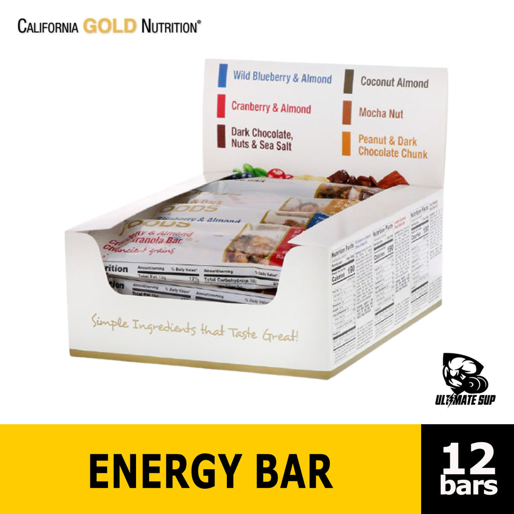 California Gold Nutrition, Foods, Variety Pack Snack Bars, 12 Bars, Before