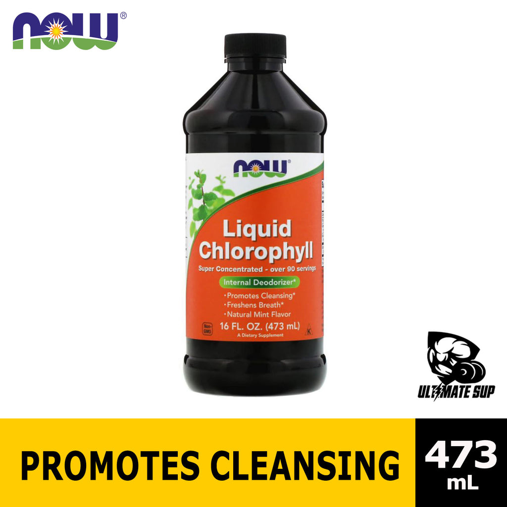 Now Foods, Liquid Chlorophyll, Mint Flavor, 16 fl oz (473 ml), Before