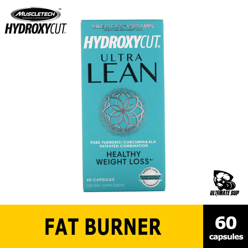 Hydroxycut, Ultra Lean Healthy Fat Burner, Weight Loss with Curcumin 60 Capsules - Ultimate Sup