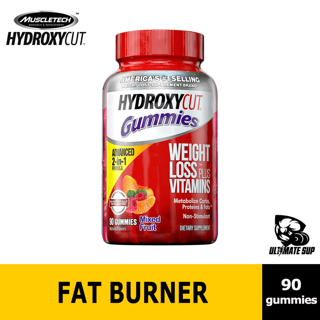 Hydroxycut Non-Stimulant Weight Loss Mixed Fruit Gummies, 90 Gummies, Before