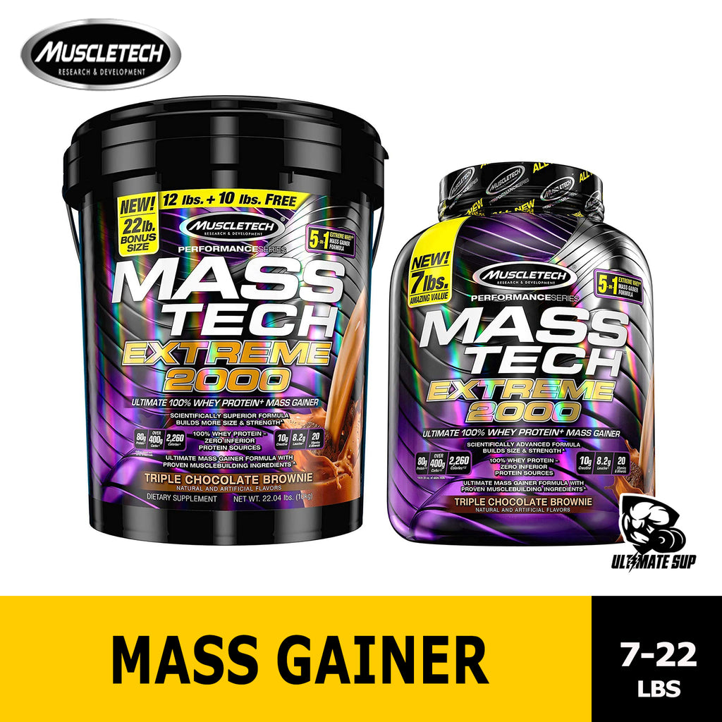 Muscletech MassTech Extreme 2000 | Whey Protein Powder | Build Muscle | Mass Gainer - Ultimate Sup