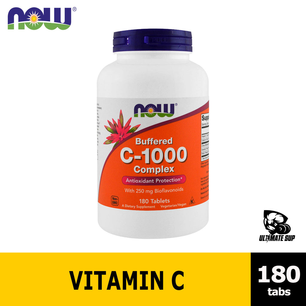 Now Foods | Buffered C-1000 Complex | Vitamin C | 180 Tablets