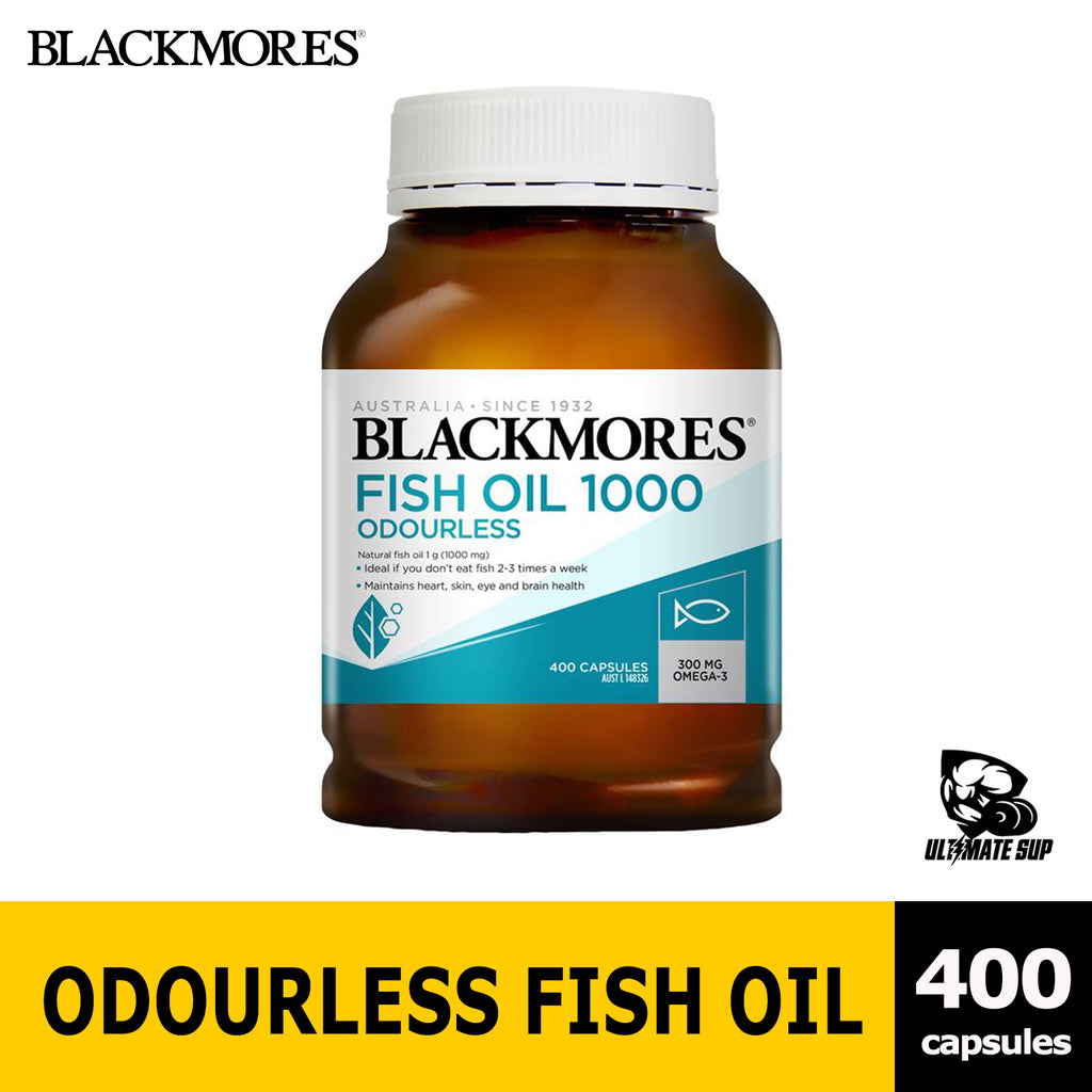 Blackmores Odourless Fish Oil 1000mg 400cap New Packaging - Ultimate Sup