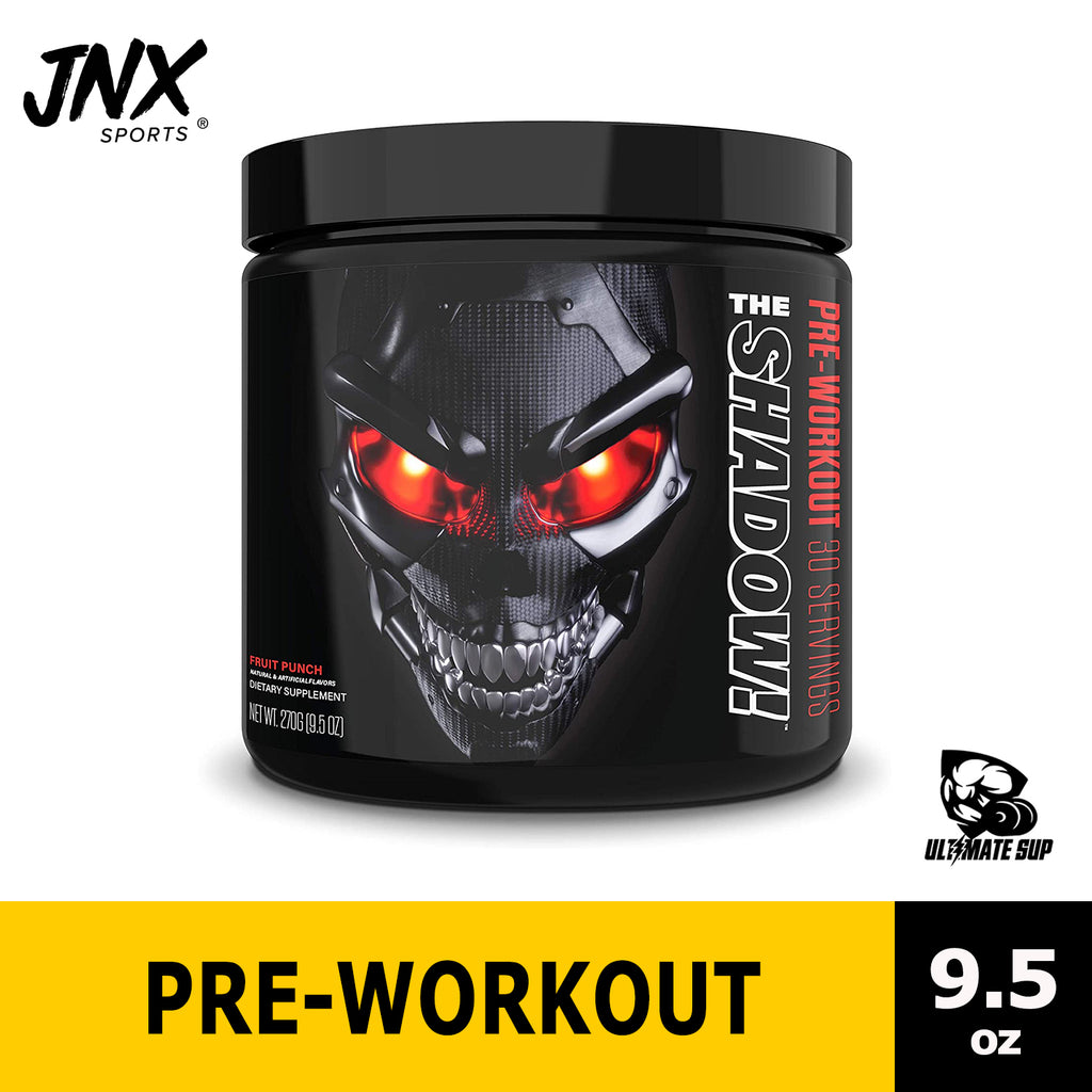JNX Sports, The Shadow, Pre Workout | Mental Focus | Intense Muscle Pump | Ultimate Pre-workout - Ultimate Sup