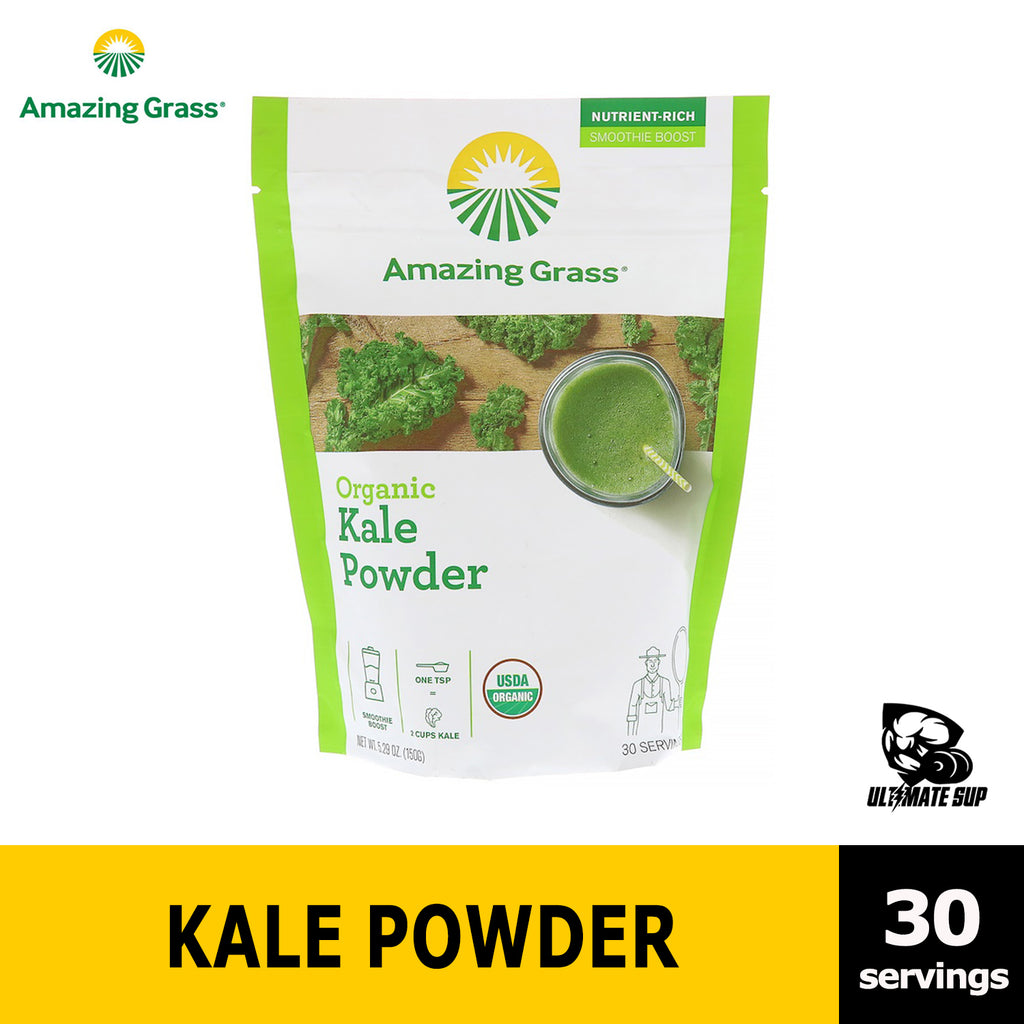 Amazing Grass, Organic Kale Powder source of Vitamin A & K, Super Food 5.29 oz (150 g) - Ultimate Sup
