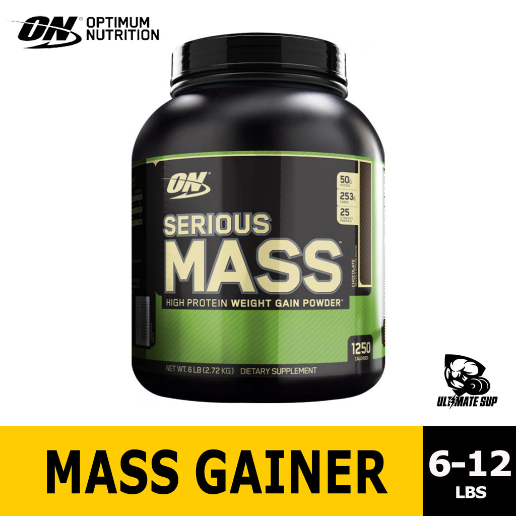Optimum Nutrition Serious Mass Gainer, 6-12lbs, 1250 kcal - Ultimate Sup