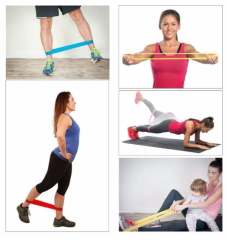 5 Piece Fitness Resistance Loop Band Set