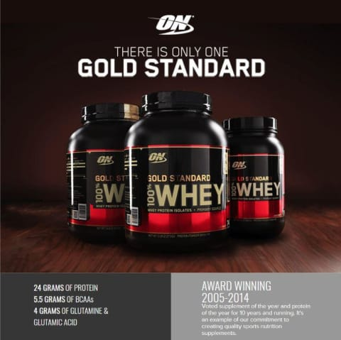 Optimum Nutrition, Gold Standard, 100% Whey, Protein Powder, Double