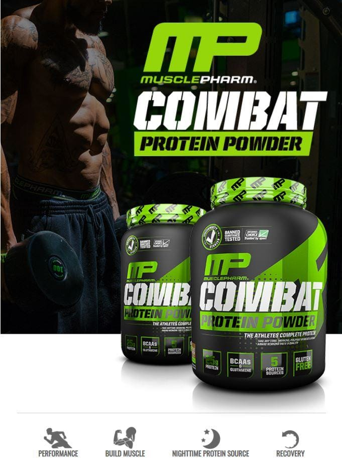 MusclePharm | Combat Protein Powder | Build Muscle | Gluten Free | Various Flavors