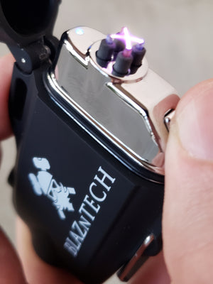 Dual Arc Lighter with Flashlight