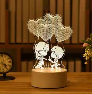 Valentine's Day 3D Lamp