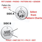 Dog Cat ID Tag Custom Personalised Engraving