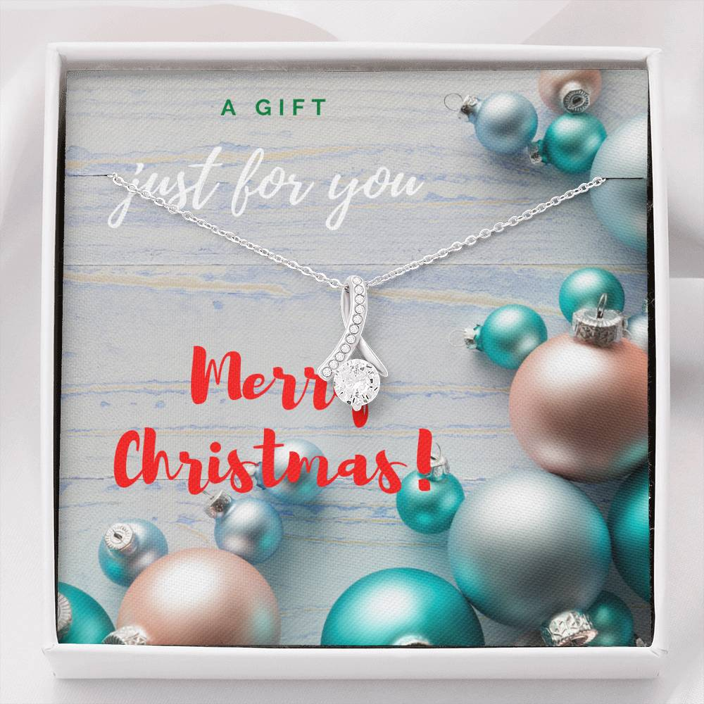 Merry Christmas My Love Silver Pendant