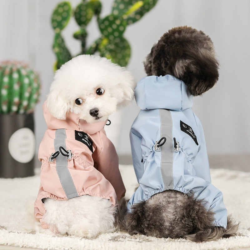 Dog Jacket Waterproof Breathable Reflective Raincoat Coat