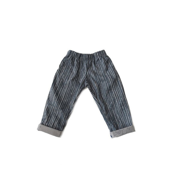 Chambray Bum-Patch Pants