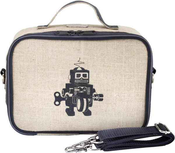 Grey Robot Uncoated Lunchbox.