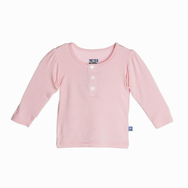Long Sleeve Henley Puff Tee