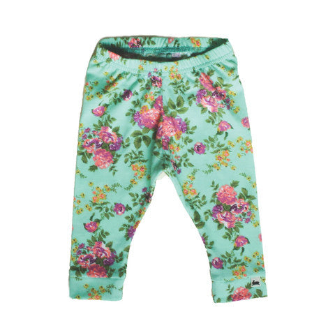 Little and Lively Flower Leggings