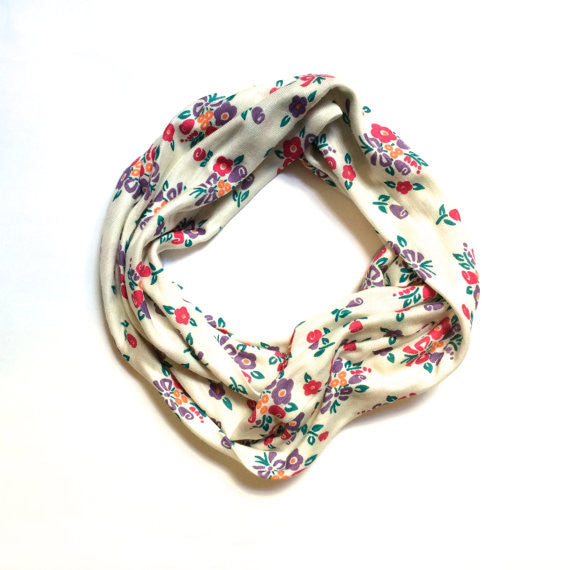 Mini Souls The Floral Infinity Scarf