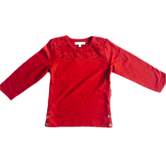 Red long sleeve top - This Little Piggy Shop