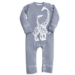Wee Urban Play Romper Grey Giraffe - This Little Piggy Shop