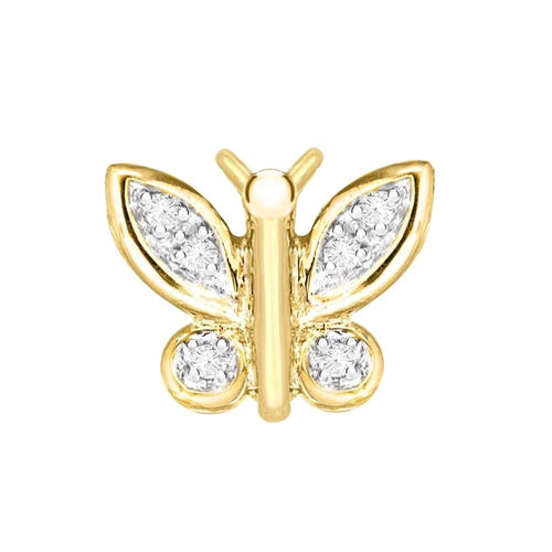9ct Gold Diamond Butterfly Pendant
