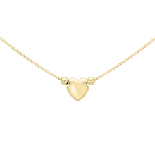 Load image into Gallery viewer, 9ct Yellow Gold Cupids Heart Necklace