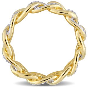 Reign Diamond Link Ring in Yellow Plated Sterling Silver