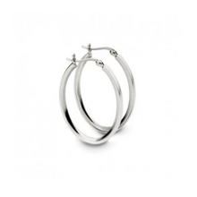 Load image into Gallery viewer, Positano Sterling Silver Oval Hoops