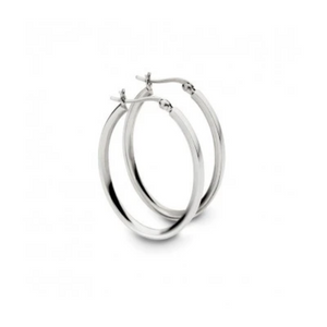 Positano Sterling Silver Oval Hoops